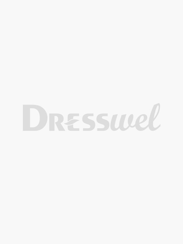Dresswel Women Geometric Pattern Lace Stitching Doll Collar Brief Button Blouse Tops
